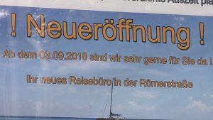 Kreuzfahrtspezialist und Vollreisebüro demnächst in Zwickau