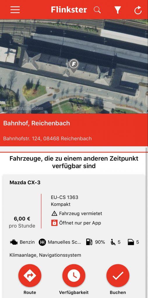 Crasharing startet in Reichenbach