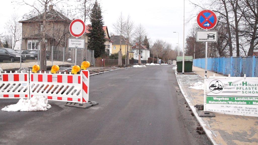 Bau der Horchstraße liegt gut im Zeitplan