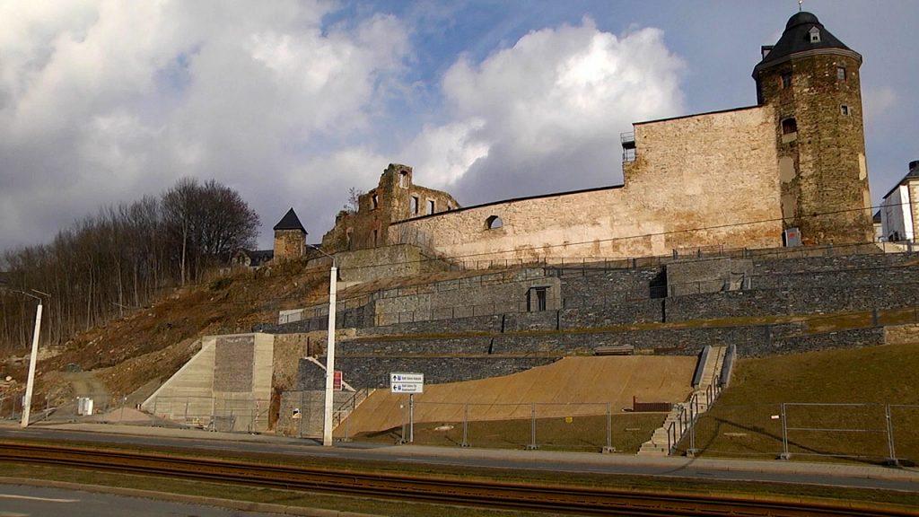 Arbeiten an den Plauener Schlossterrassen gehen weiter